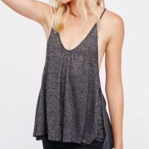 Free People Ribbed Swingy Knit Racerback Tank / S